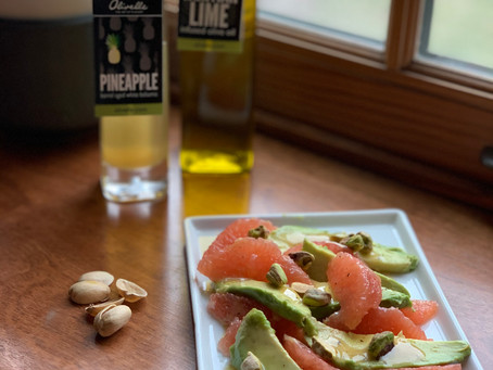 Avocado & Grapefruit Salad w/ Pineapple Lime dressing
