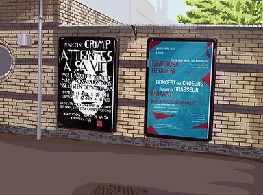 Affiche théâtre Crimp