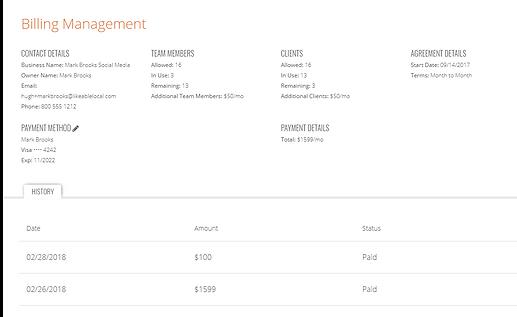 Client Billing Management
