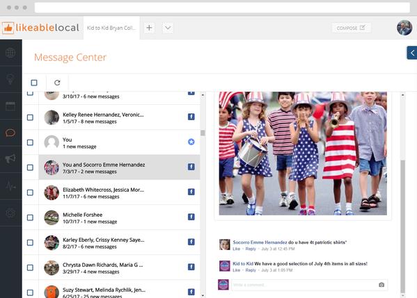 Facebook Message Center