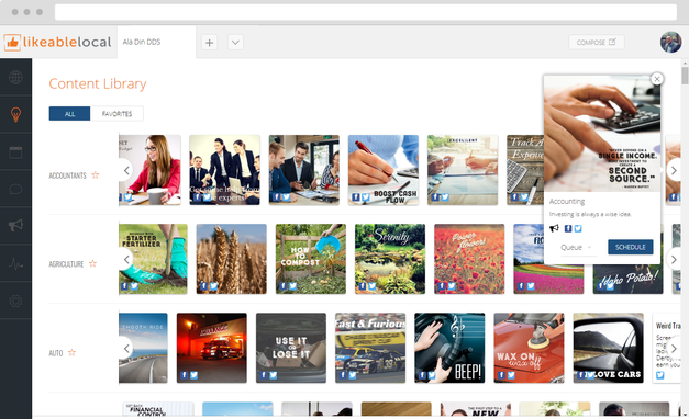 Social Media Content Library