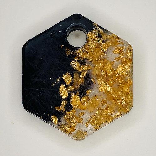 """Pre-Made 1"""" Hexagon - Gold Flake"""