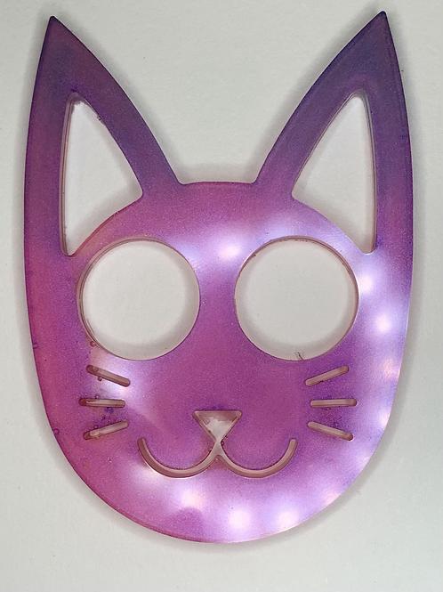 Custom Self Defence Kitty Keychain