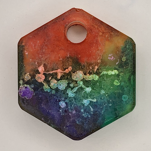 "Pre-Made Pride 1"" Hexagon"