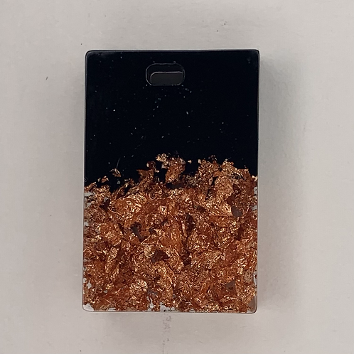 """Pre-Made 1"""" Rectangle - Rose Gold"""