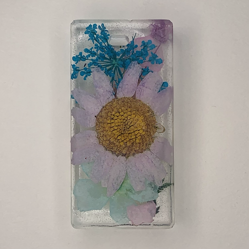 """Pre-Made 1.5"""" Rectangle - Floral"""