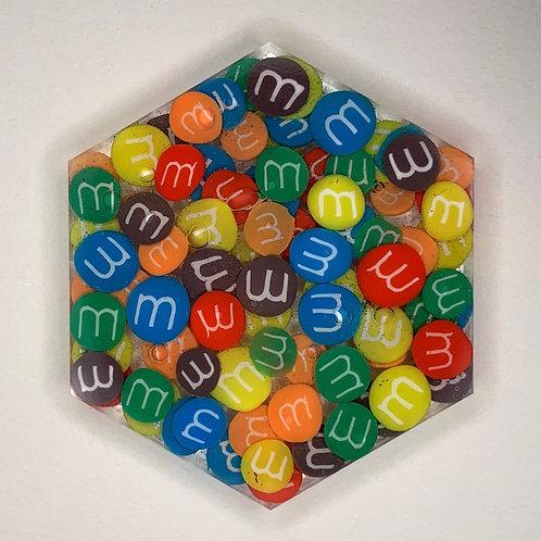 """Pre-Made 1.5"""" Hexagon - M&M"""