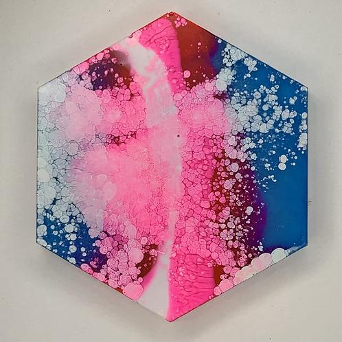 "Pre-Made Pride 1.5"" Hexagon"