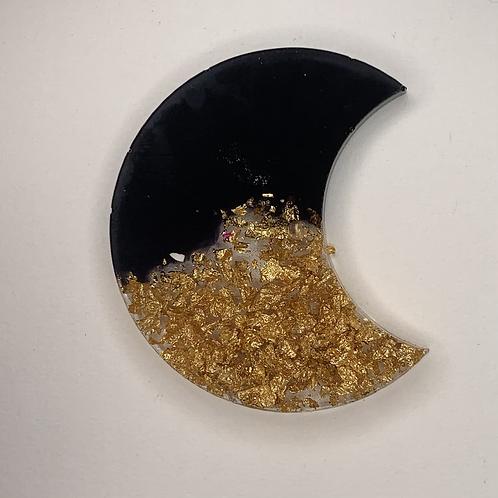 "Pre-Made 1.5"" Moon - Gold Flake"