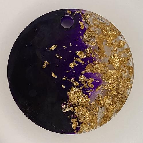 "Pre-Made 1.5"" Circle - Gold Flake"