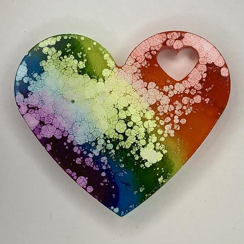 """Pre-Made Pride 1.5"""" Heart"""