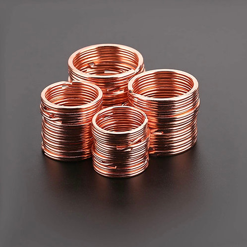 Rose Gold Tag Ring - Heavy Duty