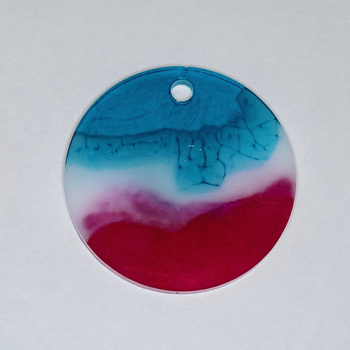 Marble or Solid Circle Tag