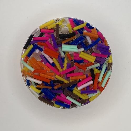 "Pre-Made 1"" Circle - Sprinkles"