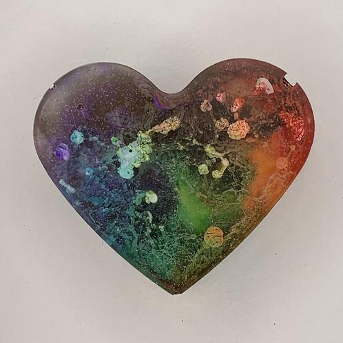 """Pre-Made Pride 1"""" Heart"""