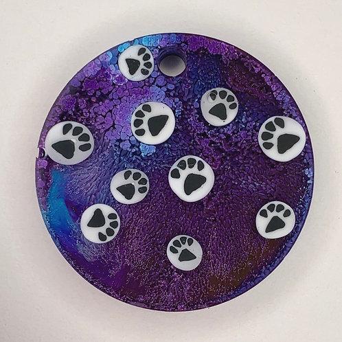 "Pre-Made 1.5"" Circle - Paws"