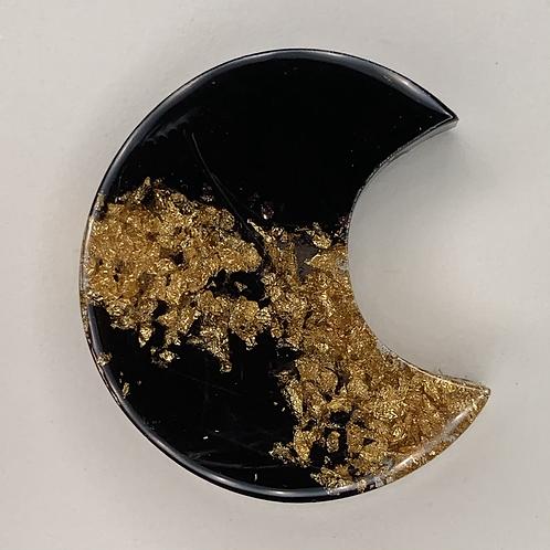 "Pre-Made 1"" Moon - Gold Flake"