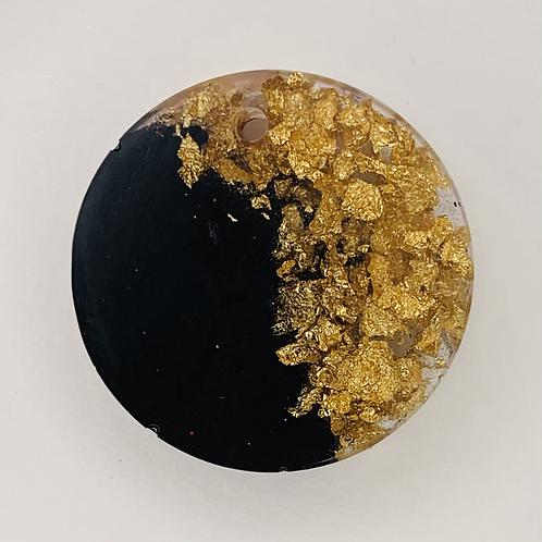 "Pre-Made 1"" Circle - Gold Flake"
