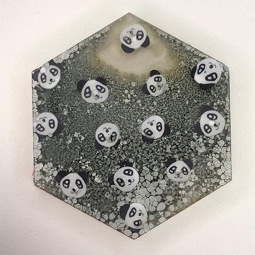 """Pre-Made 1.5"""" Hexagon - Pandas"""