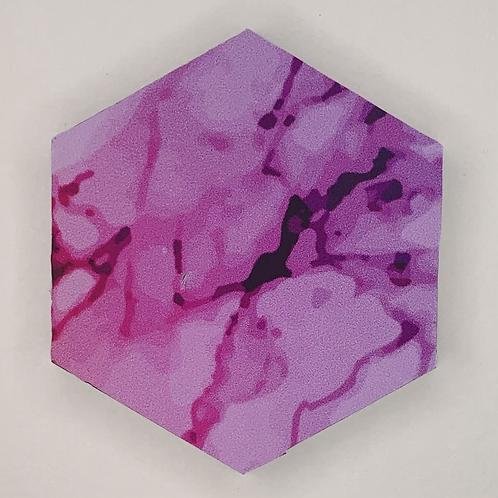 """Pre-Made 1.5"""" Hexagon - Marble"""
