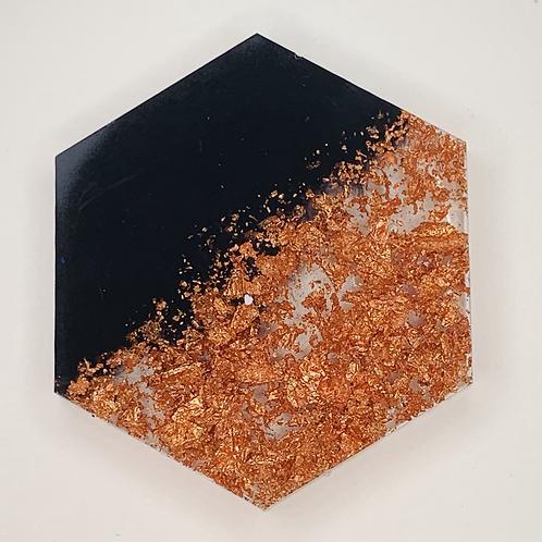 "Pre-Made 1.5"" Hexagon - Rose Gold Flake"