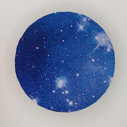 """Pre-Made 1.5"""" Circle - Blue Galaxy"""