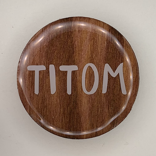 "Round Wood Tag 1.5"" - Create Your Own"