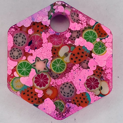 FRUITY Series Hexagon Tag  - Create Your Own