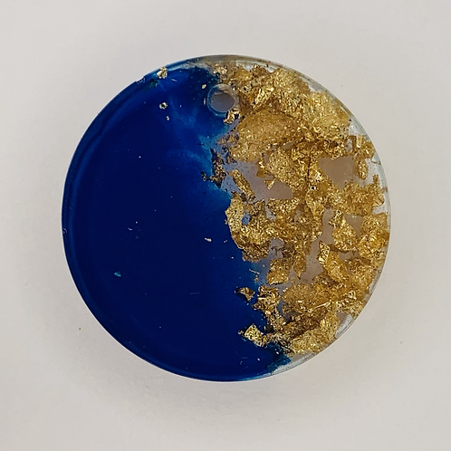 "Pre-Made 1"" Circle - Gold Flake"