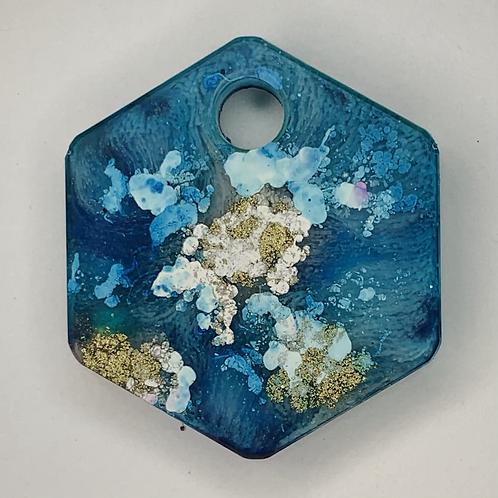 """Pre-Made 1"""" Hexagon - Gold"""