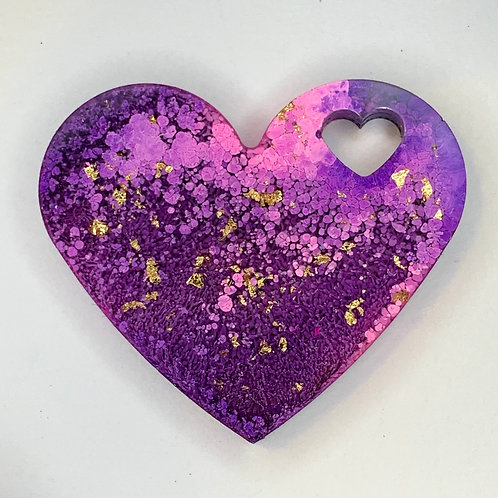"Pre-Made 1.5"" Heart - Gold Flake"