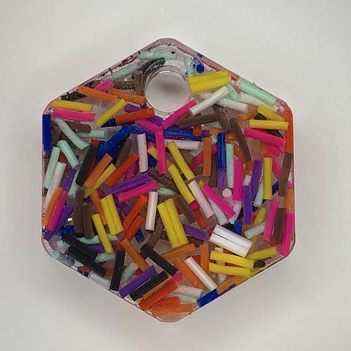 """Pre-Made 1"""" Hexagon - Sprinkles"""