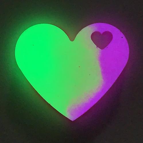 "Pre-Made 1.5"" GLOW Heart"