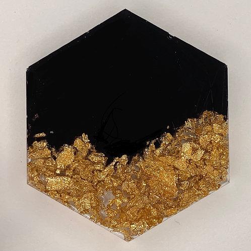 """Pre-Made 1.5"""" Hexagon - Gold Fake"""