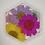 """Thumbnail: Pre-Made 1.5"""" Hexagon - Floral"""
