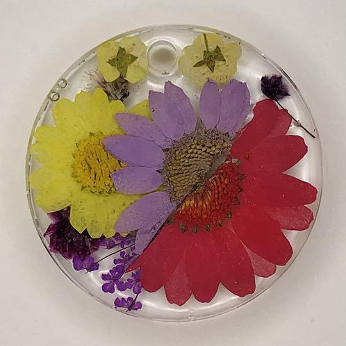 "Pre-Made 1.5"" Circle - Floral"