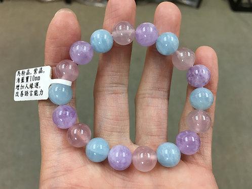 Aquamarine / Rose Quartz / Amethyst 海藍寶 / 粉晶 / 紫晶 10mm
