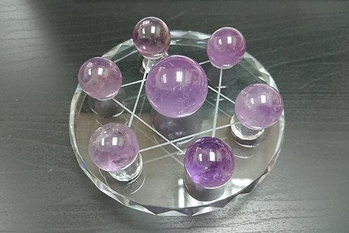Amethyst Ball Ornament 紫晶球 ( 7 星陣 ) ( 已售 / Sold )