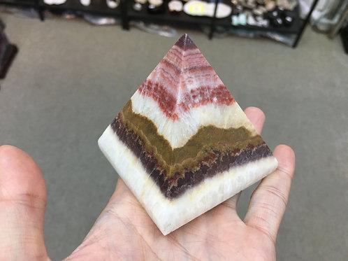 Rhodochrosite Pyramid 紅紋金字塔 ( L ) ( 已售 / Sold )
