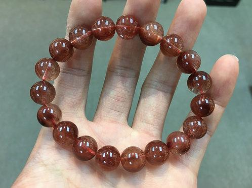 Red Rutilated Quartz 紅髮晶 10.2-11mm
