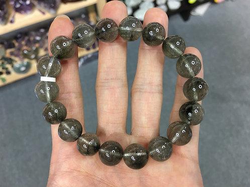 Rutilated Quartz ( Black / Silver ) 黑銀髮晶 11.5mm