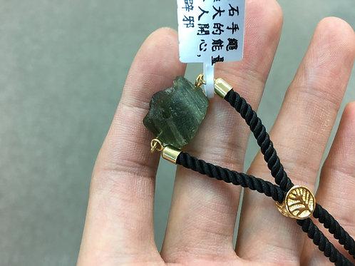 Moldavite Rope Bracelet 捷克隕石手繩