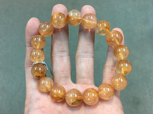 Rutilated Quartz ( Brozne ) 銅髮晶 ( A ) 13mm
