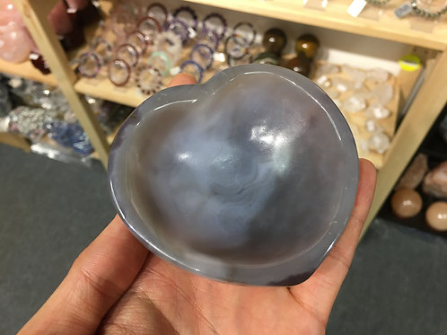 Agate Bowl In Heart Shape 瑪瑙心形碗 ( 1 )