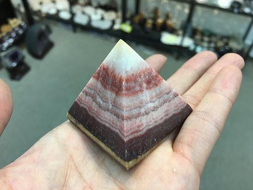 Rhodochrosite Pyramid 紅紋金字塔 ( 已售 / Sold )