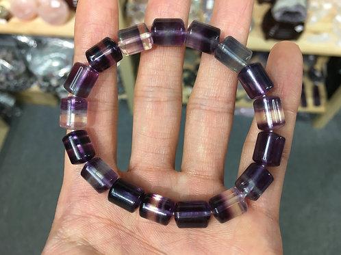 Fluorite ( Cylinder Shape ) 螢石 ( 圓柱形 ) 8mm ( 2 )