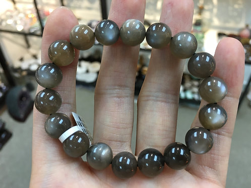Moonstone ( Black&Brown ) 月光石 ( 黑啡色 ) 10mm