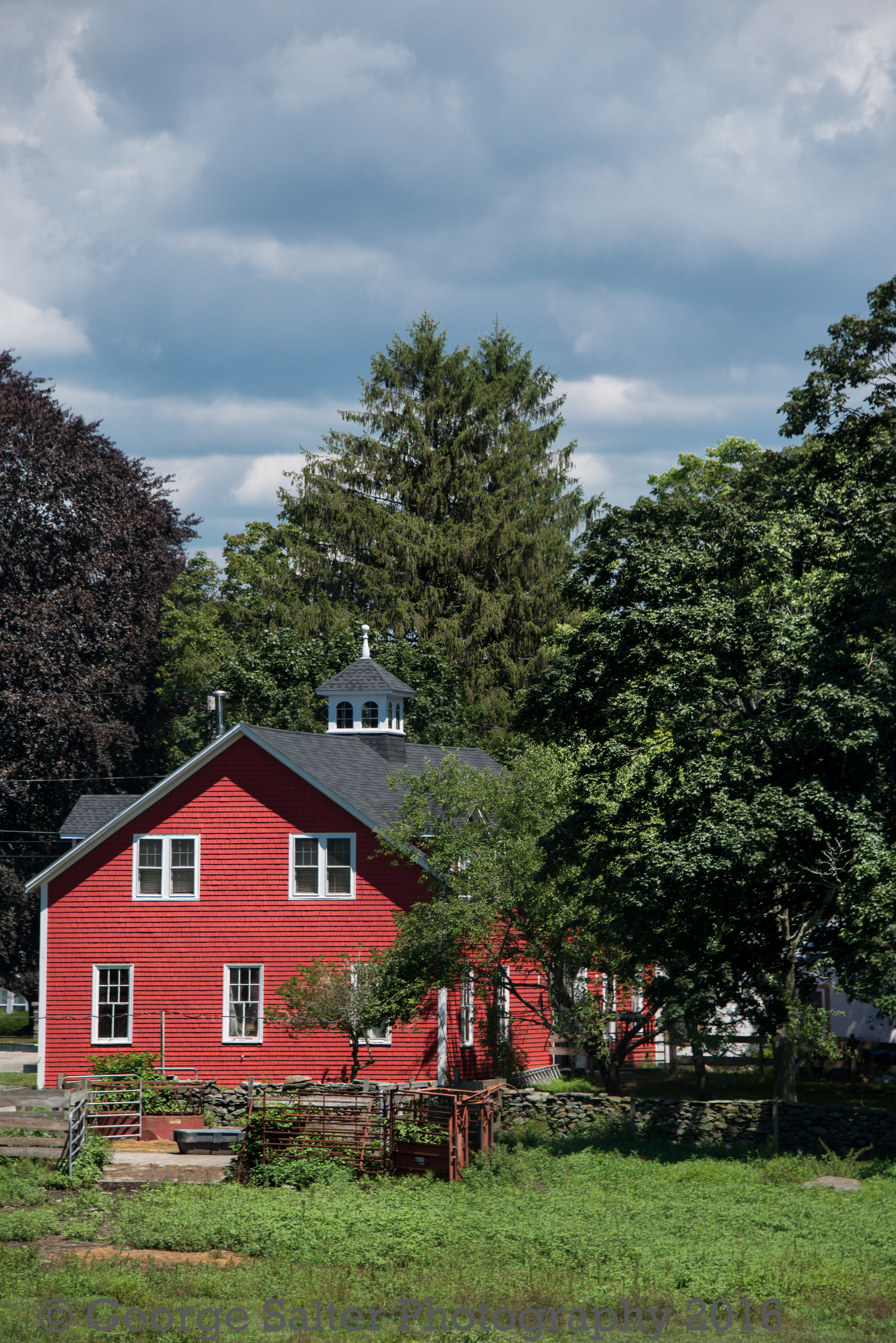 Red Barn in Suburbia
