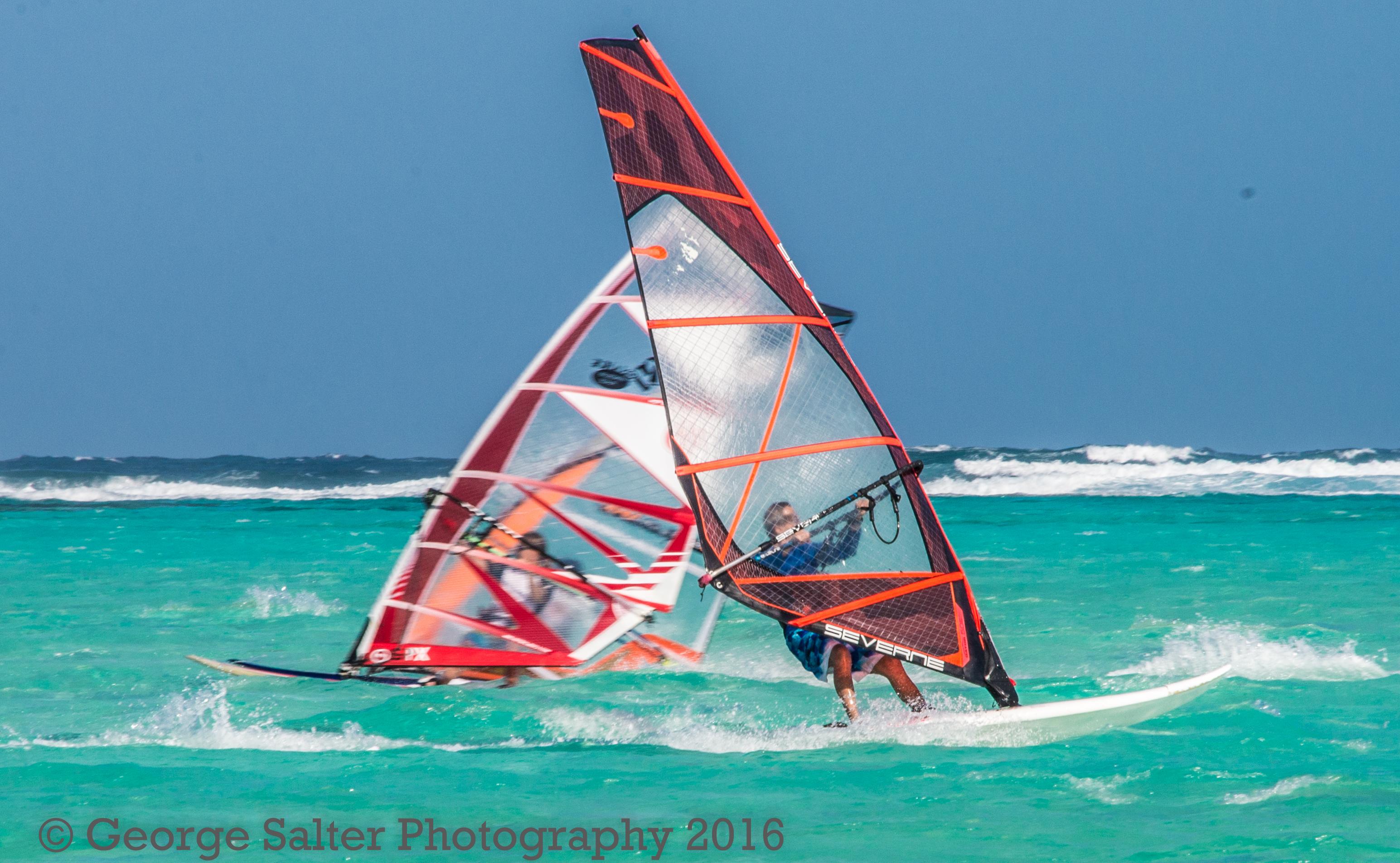 Dueling Windsurfers