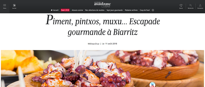 madame figaro biarritz pintxo aneth et cerfeuil halles marché chef a domicile
